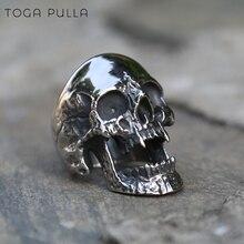 High Polished Vampire Skull Rings Stainless Steel Skull Mens Biker Rocker Ring Boy Heavy Metal Gothic Punk Jewelry Size 7-15 925 sterling silver skull mens biker rocker punk pendant 9r009
