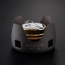ALOCS B02 Ultralight MINI กลางแจ้งเตาแอลกอฮอล์แบบพกพา Outdoor Camping เตา Liquid Liquid เตา