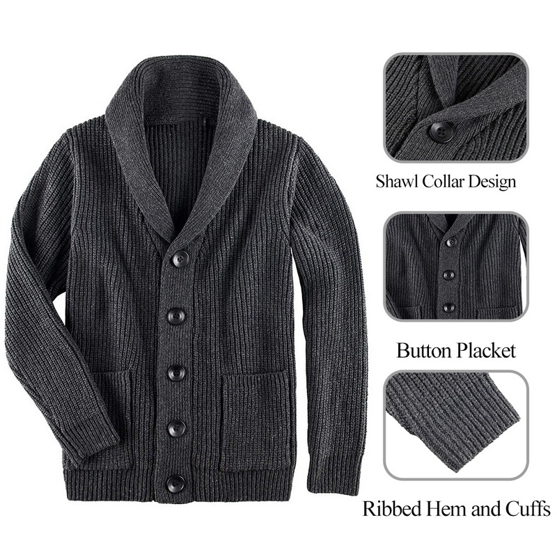Spring Sweater Men Casual Button V-Neck Solid Slim Fit Knitting Fashion Men's Sweaters Knit Cardigan Male Casual Tops