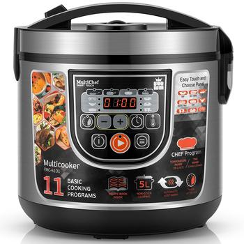 Multicooker ryżowar 11 w 1 DIY funkcje gulasz zupy owsianka 5L elektryczne urządzenie do gotowania ryżu ryżowar garnek do gotowania parowar ForMe FMC5101 tanie i dobre opinie HAIMAITONG Lfgb CN (pochodzenie) ryż ziarna Składane dno 860 w 220-240 v Stainless Steel Press Button Non-Stick