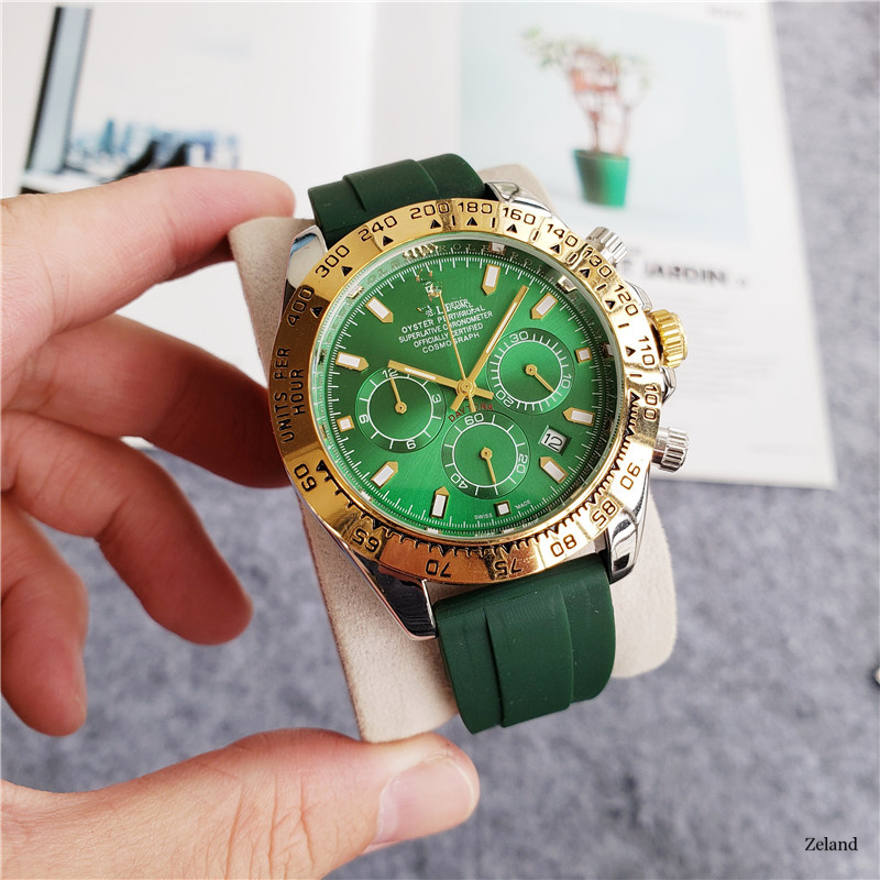 Luxury Men Business Quartz Watch Men's Top Brand Wrist Watch Chronograph AAA Daytona Stop Watches Fashion Gift Montre Homme