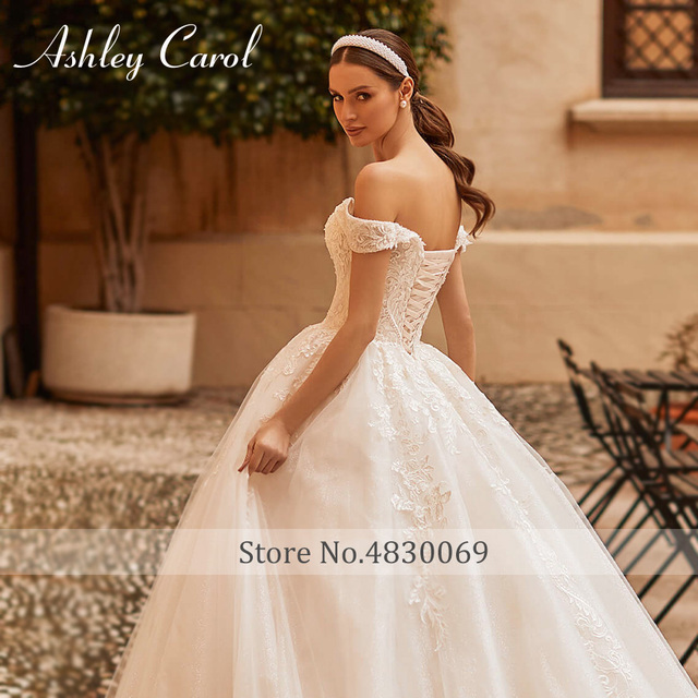 Ashley Carol Princess Wedding Dress 2021 Elegant Sweetheart Bride Beaded Embroidery Lace Up A-Line Bridal Dresses Robe De Mariee 4