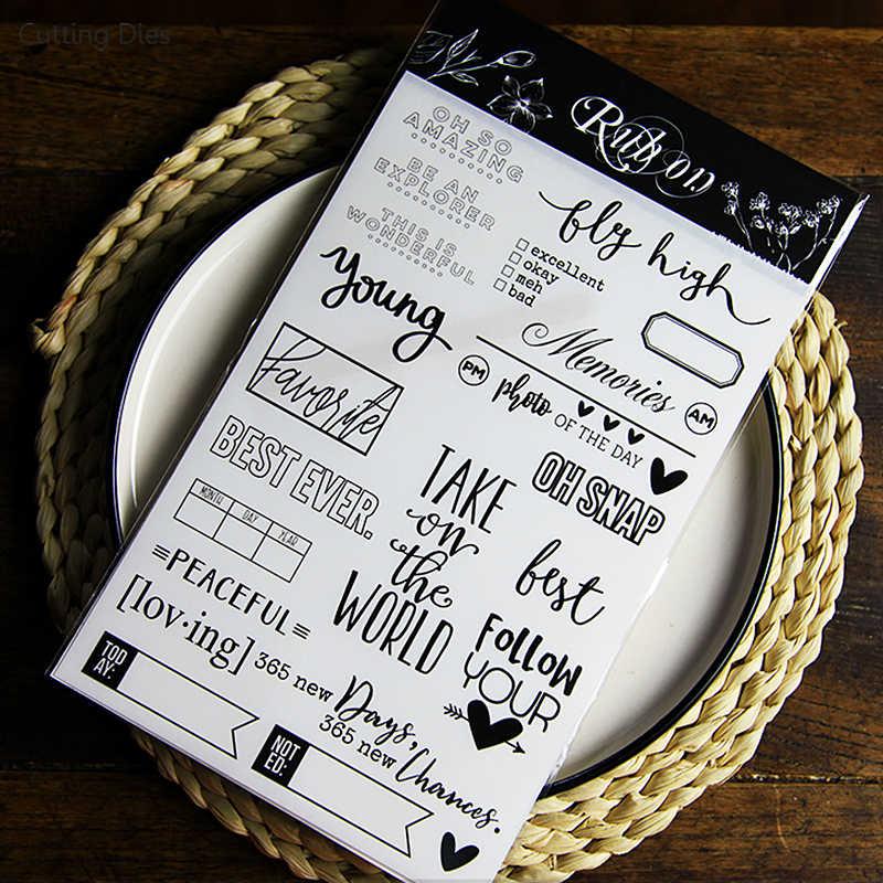 2019 Новое прибытие Be Mine Lover втирает на слово буква наклейки Набор для скрапбукинга счастливая карточка планировщика делая журнал проект
