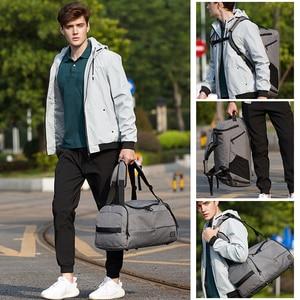 Image 5 - Sac de voyage antivol pour hommes, sac de transport avec mot de passe, imperméable, sac à bandoulière pour week end, grande capacité, sac de transport