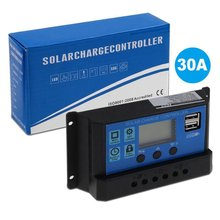 30A PWM Solar Panel Regulator 12V-24V Charge Controller Auto Dual USB Digital Display for Lead Acid Batteries LCD Collector кепка patagonia patagonia p6 trucker синий one