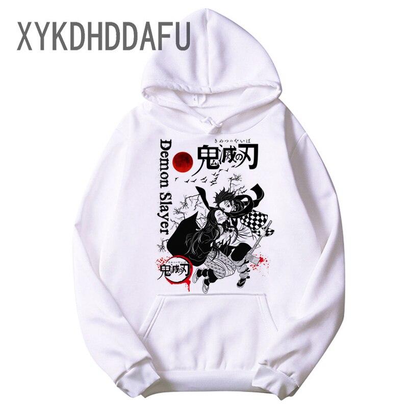 Kimetsu No Yaiba Men/women Demon Slayer Hoodies Harajuku Anime Japan Kawaii Hoodie Kimetsu Demon Blade Cartoon Sweatshirts