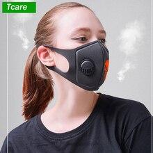 Маска для рта, 3D, обрезанная, дышащая, клапан, череп, маска для рта, респираторная, маска от пыли, обновленная версия, для мужчин и женщин