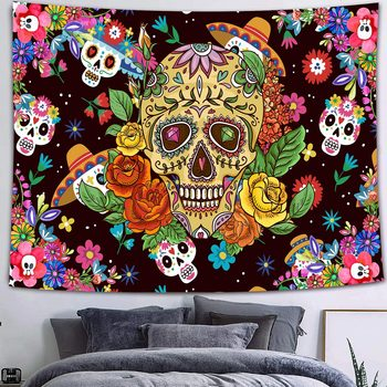 Simsant Mushroom Forest Castle Tapestry Fairytale Trippy Colorful Butterfly Wall Hanging Tapestry for Home Dorm Fantasy Decor 28
