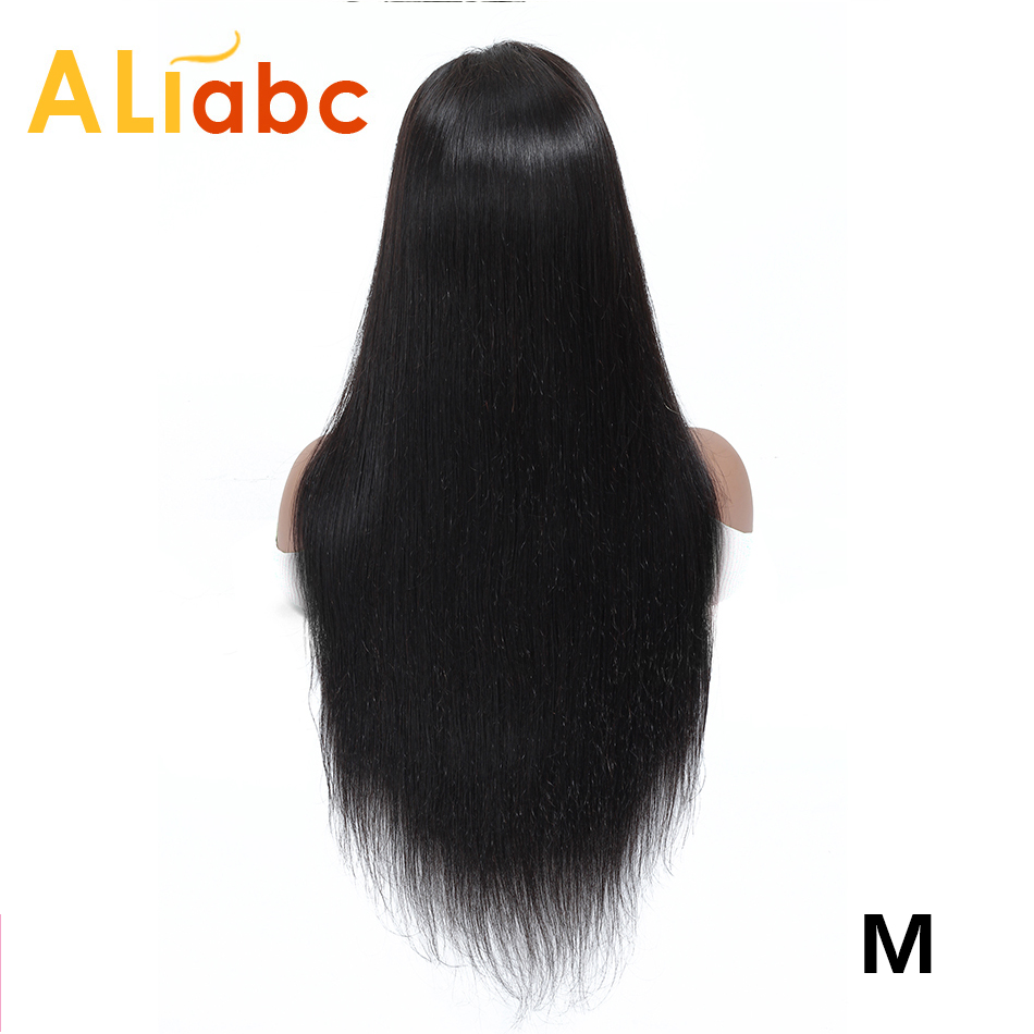 Aliabc Brazilian 4*4 Lace Closure Wigs 100% Human Hair Wigs For Women Non-Remy Hair Straight Lace Wigs 150 Density Middle Ratio