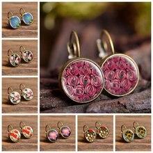Серьги гвоздики «Сакура» с маргариткой стильные сережки цветами