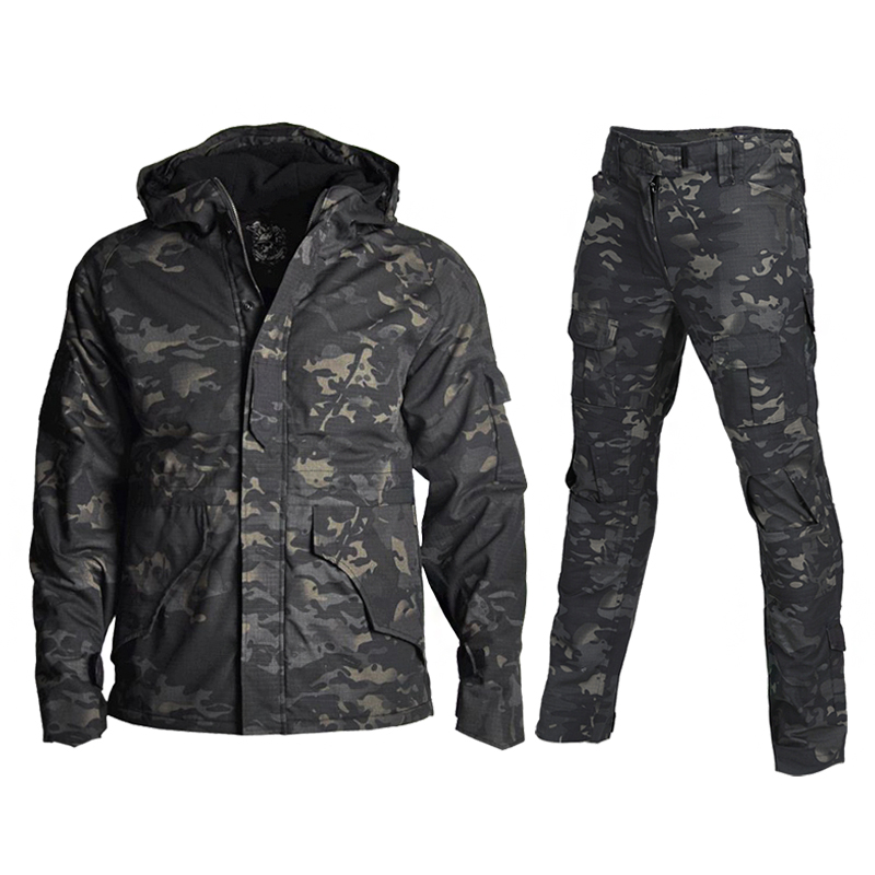 Military Uniform Combat Shirt Pants Men Army Camouflage Winter WaterProof Jacket Warm Clothes Tactical Hunting Clothing Female