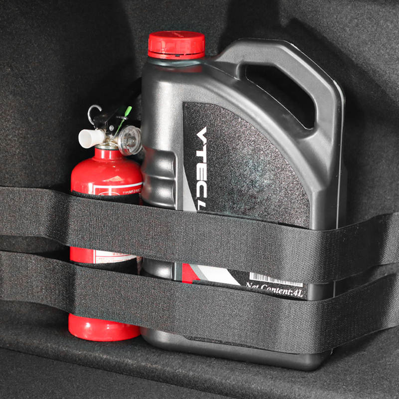 Car Rear Trunk Organizer Elastic Fixing Belt Storage Bag Tapes Fire Extinguisher Fixing Belt Auto Styling Interior Accessories