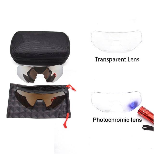 Óculos photochromic esportes ao ar livre ciclismo óculos de sol gafas ciclismo óculos esporte óculos de bicicleta velocidade 3