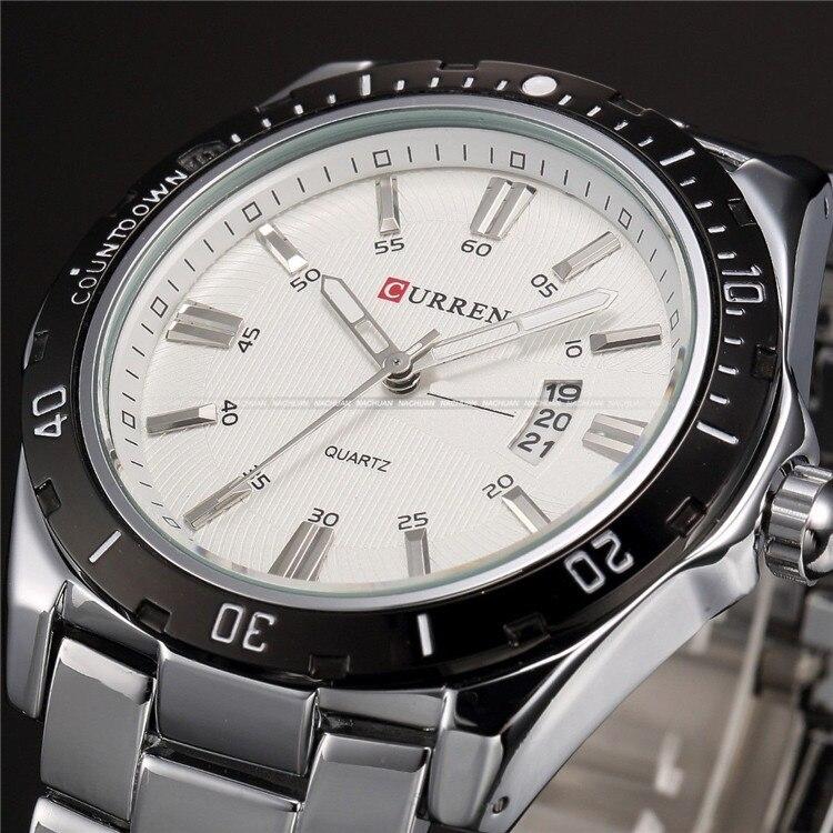 Для мужчин s часы Топ Элитный бренд CURREN 2018 Для мужчин часы с полностью стальным корпусом кварцевые часы аналог Водонепроницаемый спорт, арми... - 3