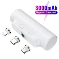 3300mAh Mini Power Bank magnetico batteria esterna di emergenza portatile Powerbank carica telefono Powerbank per iPhone 12 11 Redmi 10