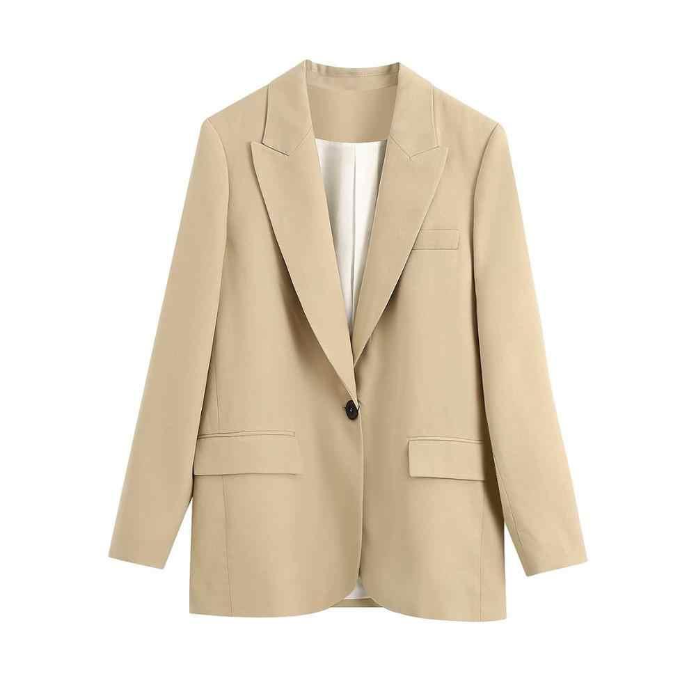 2020 Nieuwe Herfst Vrouwen 2 Stuks Set Khaki Solid Lange Mouwen V-hals Jas Shorts Pak Vrouwelijke Mode Casual Kleding