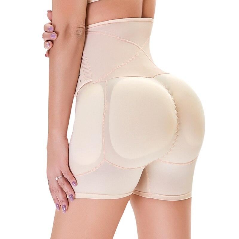 Women's Shapewear Firm Control Seamless Padded Thigh Slimmer High Waist Panties Hip Pads Enhancer Butt Lifter Short Booster