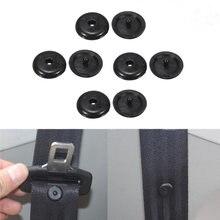 10 par/pack para cinturón de seguridad de coche tapón botón límite Universal de hebillas de seguridad retenedor negro Auto partes sujetador accesorios de Auto