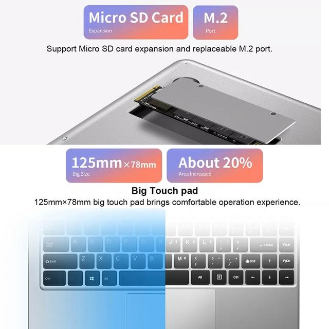 Teclast F7 Plus laptop 14.1inch notebook Intel Celeron N4100 Windows10 8GB LPDDR4 256GB M.2 SSD 1920*1080IPS Bluetooth 4.2 Wifi