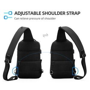 Image 3 - 2020 neue Männer Umhängetasche Passt 12 zoll iPad Schulter Messenger Taschen Männlichen Wasserdichte USB Aufladen Sling tasche