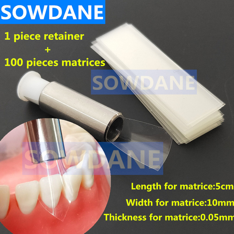 100 Pcs/box Dental Teeth Crown Transparent Dental Strips Cervical Matrices Matrix Dental Orthodontic Sectional Contoured Matrice
