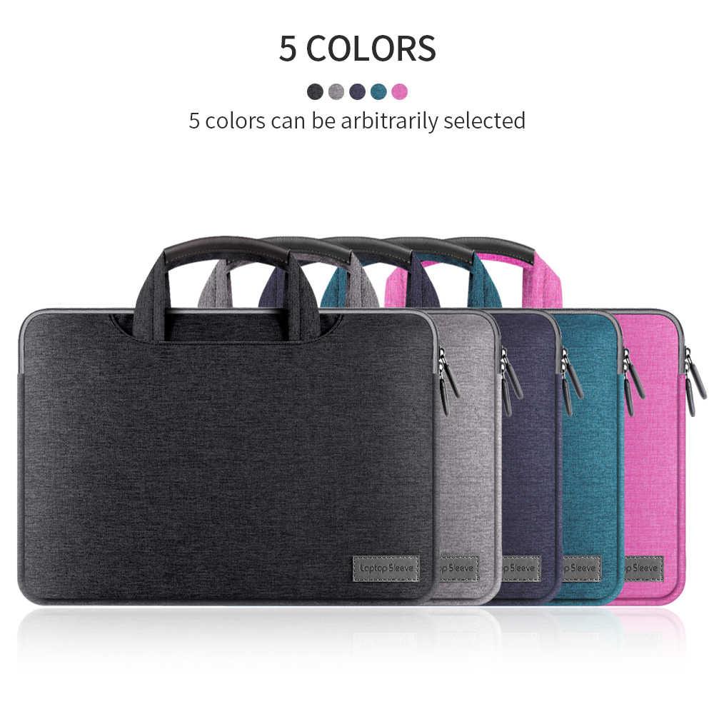 حقيبة لاب توب حالة شنطة لحمل macbook الهواء برو 11 12 13 15 دفتر حقيبة الكمبيوتر المحمول 15.6 13.3 بوصة لينوفو xiaomi ASUS HP ديل