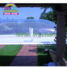 цена на Giant inflatable swimming pool cover tent,transparent inflatable bubble dome tent for pools