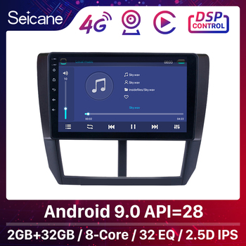 Seicane 9 Inch 2din Android 9.0 Car Radio For 2008 2009 2010 2011 2012 Subaru Forester GPS Audio Head Unit Multimedia Player image