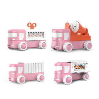 21Pcs Children Assembly Magnetic Toy Car Educational Music Car Building Blocks Set Science Toys 2019 Age 3+Christmas Gift