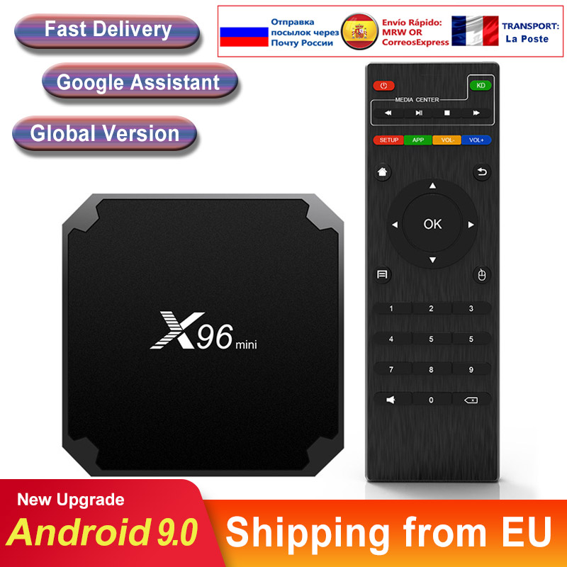 X96 Мини Смарт ТВ коробка Android 9,0 S905W четырехъядерный 64 бит 4K 1080P Full HD Быстрый медиаплеер X96mini Android ТВ телеприставка