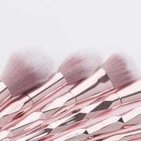 12 фиолетовый набор кистей для макияжа цвета шампанского, набор кистей, косметические инструменты, кисть для нанесения основы