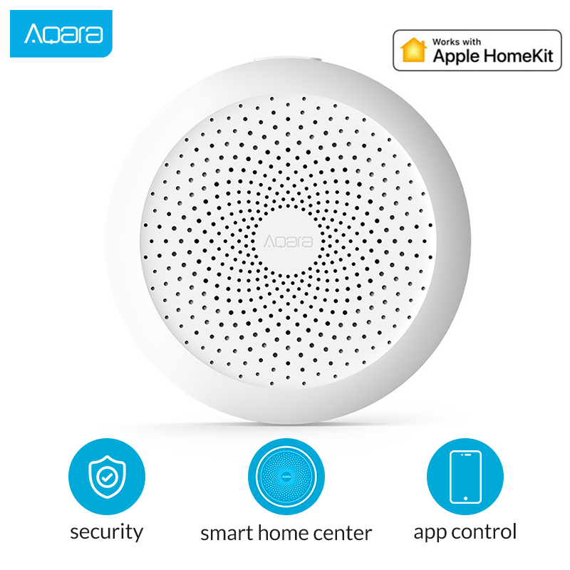 Aqara Hub mi Gateway com RGB Led luz noturna Inteligente trabalhar com A Apple Homekit e aqara smart App para xiaomi smart home