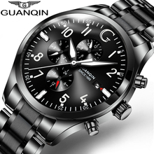 GUANQIN Luxury Automatic clock Mechanical Men's Watches Calendar pilot