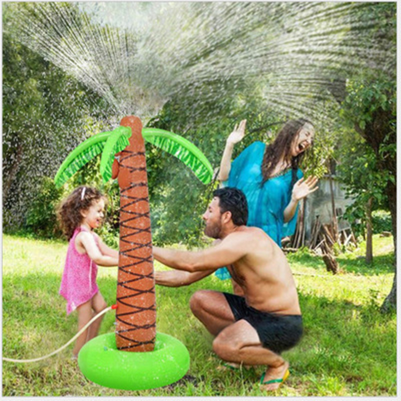 1.6M Inflatable Coconut Palm Tree Water Sprinkler Inflated Children Toys For Sandbeach Party Decorations Supplies Hawaii Series