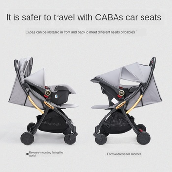 Umaubaby 2020 New Lightweight Folding Stroller Baby Carriage 3-in-1 Baby Safety Seat Car Four-Wheel Small Umbrella Car image