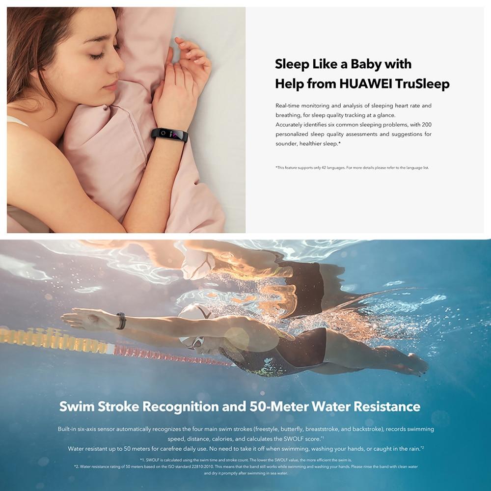 H16bbe4562ad04b6ca4f1a51c19c8946bL Huawei Honor Band 5 Fitness Bracelet BT4.2 Sleep Real-Time Heart Rate Monitoring Waterproof Smart Watch Multiple Sports Modes