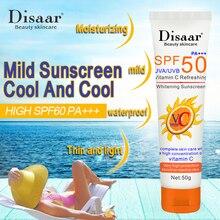 SPF50 facial sunscreen waterproof sweat proof isolation sunscreen UV protection moisturizing