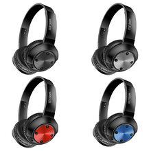 MS-K15 metal sem fio fone de ouvido bluetooth fone de ouvido portátil tf/sd cartão mp3 player estéreo gaming headset com microfone apoio