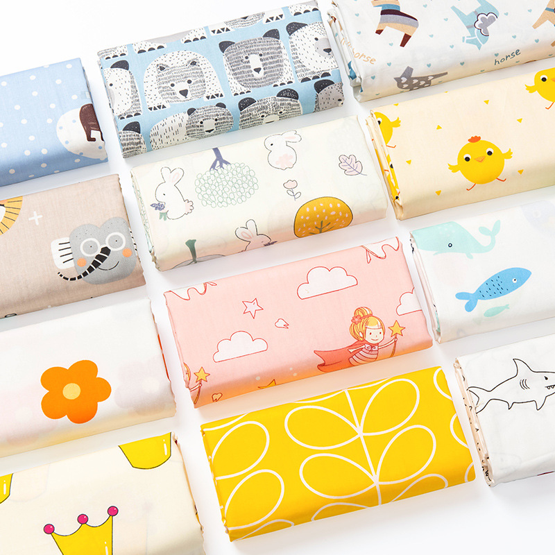 Cotton Fabric DIY For Kids' Wear Making Clothes Curtain Table Cotton Fabric Clothing Fabric Casual Plant Printed Telas Algodon