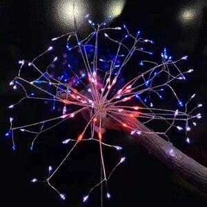 Image 4 - RC זיקוקי LED מחרוזת אורות עמיד למים נחושת חוט פיות אור תליית Starburst נצנץ אור שן הארי עבור Christma בית D23