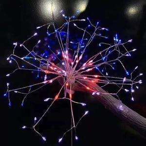 Image 4 - RC Фейерверк светодиодный светильник s водонепроницаемый медный провод Сказочный светильник подвесной Звездный взрыв мерцающий Светильник Одуванчик для рождества дома D23
