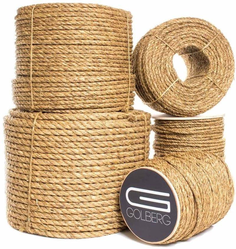 Веревки из натурального джута 3 нити рулоны из конопляной ткани скрученный шнур из керамического волокна макраме строка рукоделие корзина ...