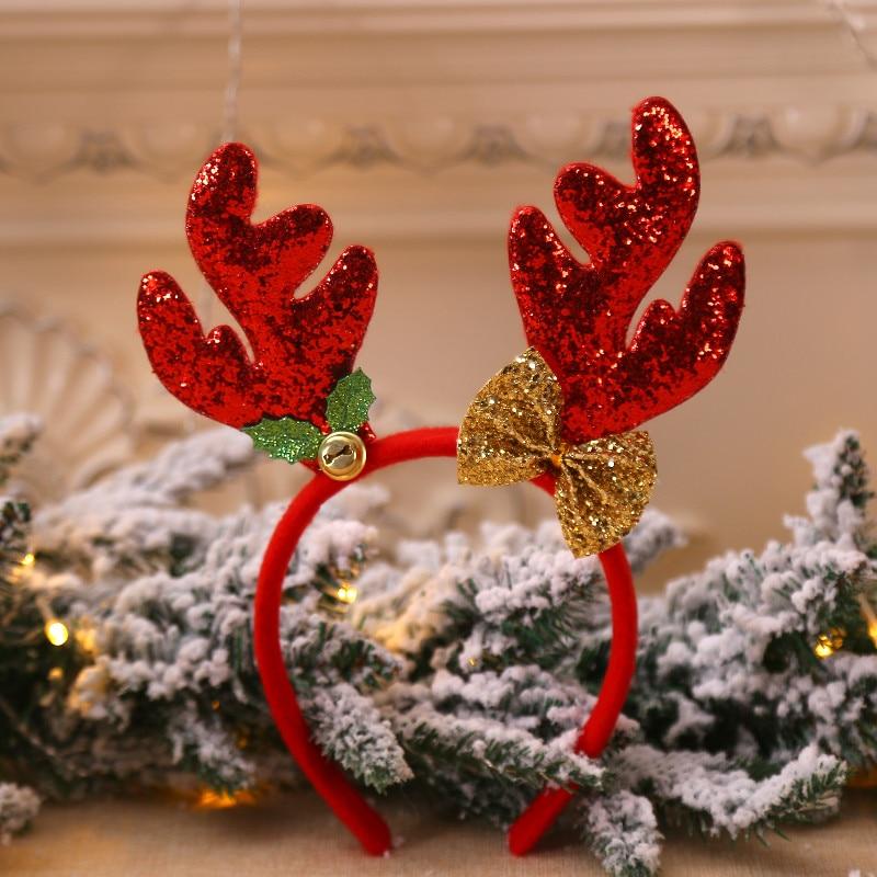 Christmas Headbands Baby Kids Fancy Reindeer Antlers Hairband Xmas Kids Baby Hairhoop Party Headwear Hot Hair Accessories Gift