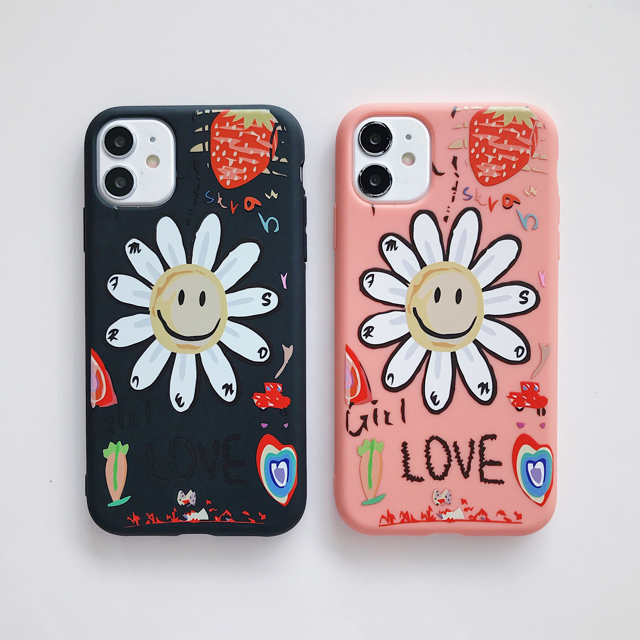 Cute Cartoon Lovely Sunflower Phone Case For iPhone 11 Pro Max 7 8 Plus XR XS Max X 6S Plus Soft TPU Silicone Back Cover Shell