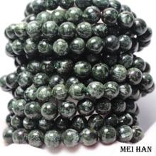 Natürliche A + russische seraphinite armband 8 8,8mm (1 armband/set) glatte runde stein großhandel perlen für schmuck DIY design