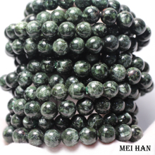 Natural A+ russian seraphinite bracelet 8 8.8mm (1 bracelet/set) smooth round stone wholesale beads for jewelry DIY design