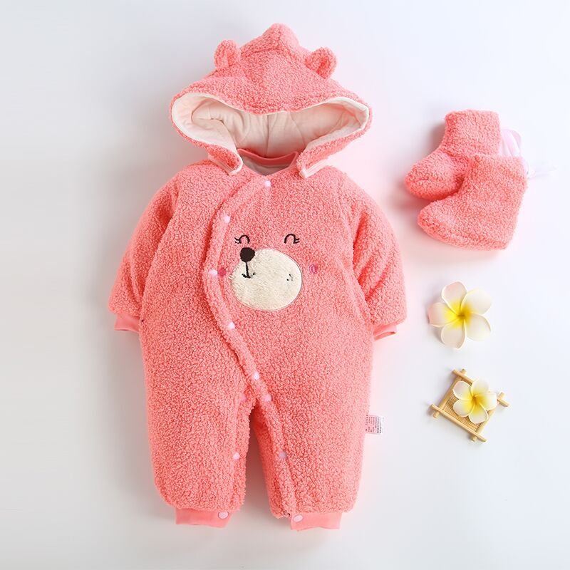 Image 3 - 2019 Baby Winter Romper For Newborn Girl Boy Clothes Toddler Baby Jumpsuit Overalls Thick Warm Baby Girl Rompers Infant Clothing-in Rompers from Mother & Kids