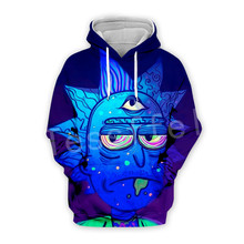 Tessffel Anime Rick and Morty New Fashion Funny Colorful Cartoon Tracksuit 3DPrint Hoodie/Sweatshirt/Jacket/shirts Men Women s-7
