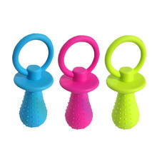 1Pc TPR Nipple Dog Toys Small Puppy Cat Bite Best Pet Dogs Supplies For Pet Chew Teething Train Cleaning Poodles(China)