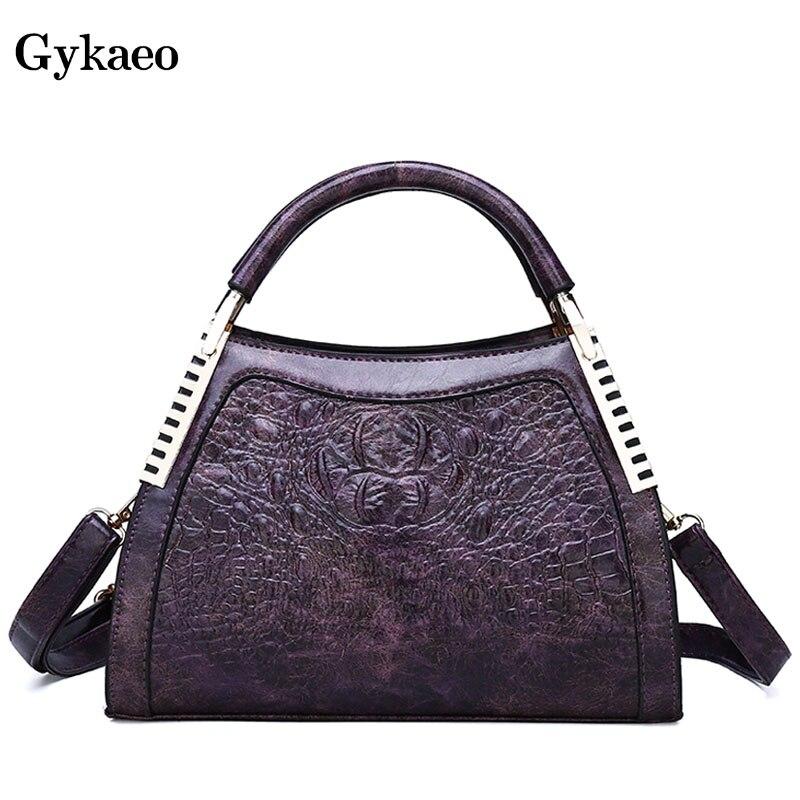 Gykaeo New 2019 Winter Female Street Shopping Messenger Bags Handbags Women Famous Brands PU Leather Shoulder Bag Sac Main Femme